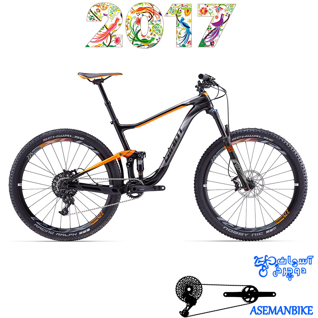 دوچرخه کراس کانتری فول ساسپنشن کربن جاینت مدل انتم ادونس 2 سایز 27.5 2017 Giant Anthem Advanced 2