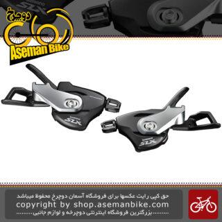 دسته دنده دوچرخه شیمانو 2/3 در 11 سرعته مدل اس ال ایکس Shimano Shifter Bicycle SLX SL-M7000 I Spec B 2/3x11 Speed Japan