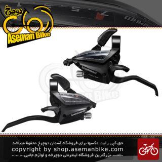 دسته دنده دوچرخه شیمانو 3 در 7 سرعته Shimano Shifter ST EF500 3x7 SPEED