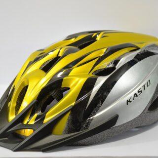 کلاه دوچرخه مدل کاستو زرد نقره ای Kasto Helmet