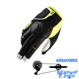 دستکش دوچرخه سواری صد در صد مدل سیمی مشکی زرد ایکس لارج 100% Gloves SIMI