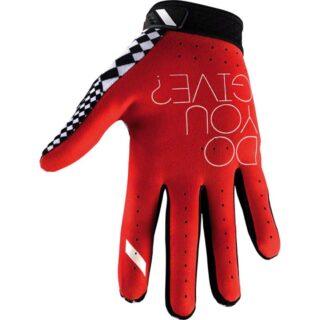 دستکش دوچرخه سواری صد در صد مدل راید فیت مشکی سفید قرمز اسمال 100% Gloves RIDEFIT