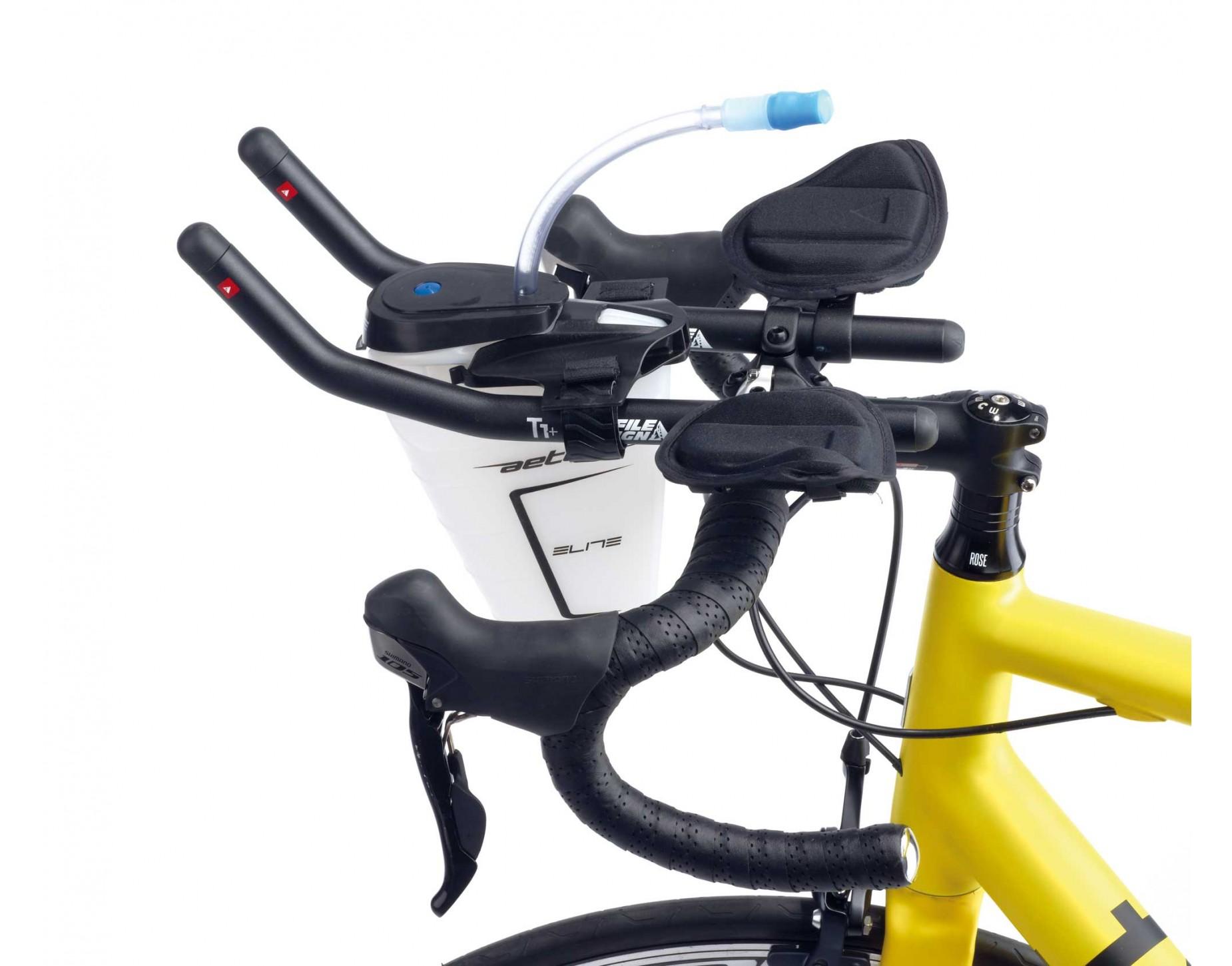 قمقمه ورزشی دوچرخه الیت ایتالیا آیرودینامیکی مدل اتون تری اتلون Elite Aeton Triathlon Drinking System 750ml