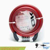 قفل کابلی رمزی دوچرخه اوکی ضد سرقت قرمز مدل 011 OK Security Cable Lock 011