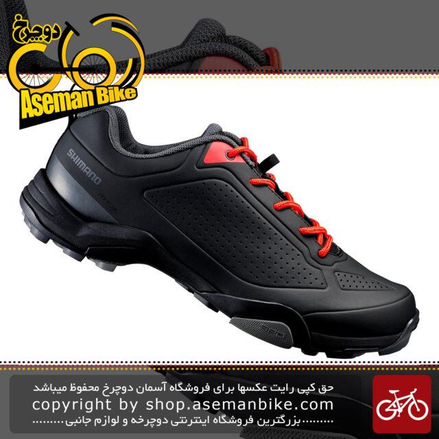 کفش دوچرخه کوهستان قفل شو شیمانو مدل ام تی 300 مشکی Shimano MT300 MTB SPD Lock Shoes Black
