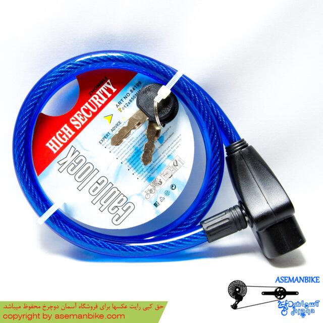 قفل کابلی اسپیرال لاک 850*12 میلیمتری آبی Spiral Lock Cable Lock