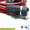 قفل کابلی کلیدی دوچرخه اوکی ضد سرقت قرمز مدل 012 OK Security Cable Lock 012
