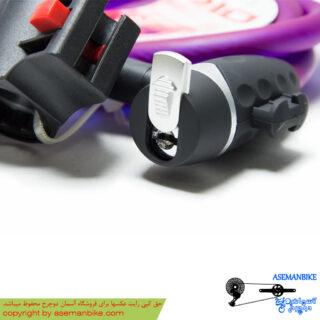قفل کابلی دوچرخه اوکی مدل 710 ام بنفش OK Cable Lock M710