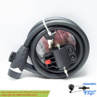 قفل کابلی کلیدی دوچرخه اوکی ضد سرقت مشکی مدل 012 OK Security Cable Lock 012