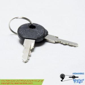 قفل کابلی کلیدی دوچرخه اوکی ضد سرقت آبی مدل 012 OK Security Cable Lock 012