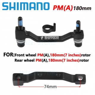 آداپتور رابط کالیپر ترمز دیسک عقب و جلو شیمانو 180 میلی متری Shimano SM-MA-F180P P2 Post Mount Disc Brake Adapter Front And Rear 180mm