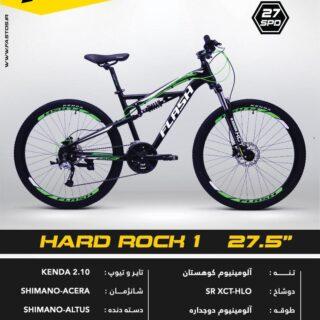 دوچرخه کوهستان دو کمک فلش مدل هارد راک 1 سایز 27.5 2017 Flash Suspension Bicycle Hard Rock 1 27.5 2017