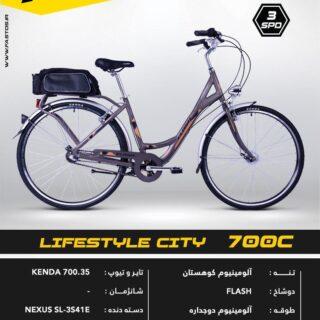 دوچرخه توريستي فلش مدل لايف استايل سيتي 700 سي 2017 Flash Tourism Bicycle Lifestyle City 700C 2017
