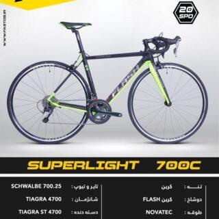 دوچرخه كربن کورسی جاده فلش مدل سوپرلایت 700 سی 2017 Flash Carbon Corsican Road Bicycle Superlight 700C 2017