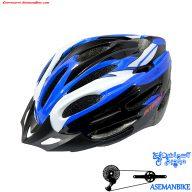 کلاه دوچرخه سواری اینتنس مشکی آبی سفید Intense Helmet Bicycle Black Blue White