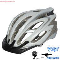 کلاه دوچرخه سواری جاینت مدل ایکزیون سفید و نقره ای Giant Helmet IXION Silver White