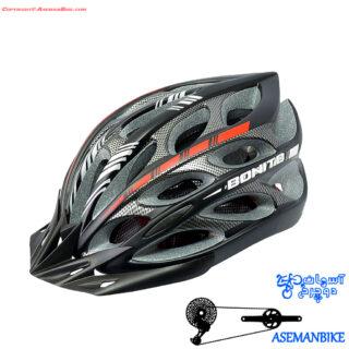کلاه دوچرخه سواری بونیتو مشکی و قرمز Helmet Bonito Black Red