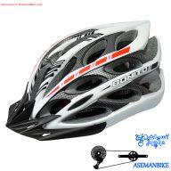 کلاه دوچرخه سواری بونیتو سفید و خاکستری Helmet Bonito White Gray