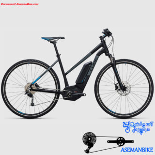 دوچرخه برقی کیوب مدل کراس هیبرید پرو سایز 28 2017 Cube Electric Bicycle Cross Hybrid Pro 28 2017