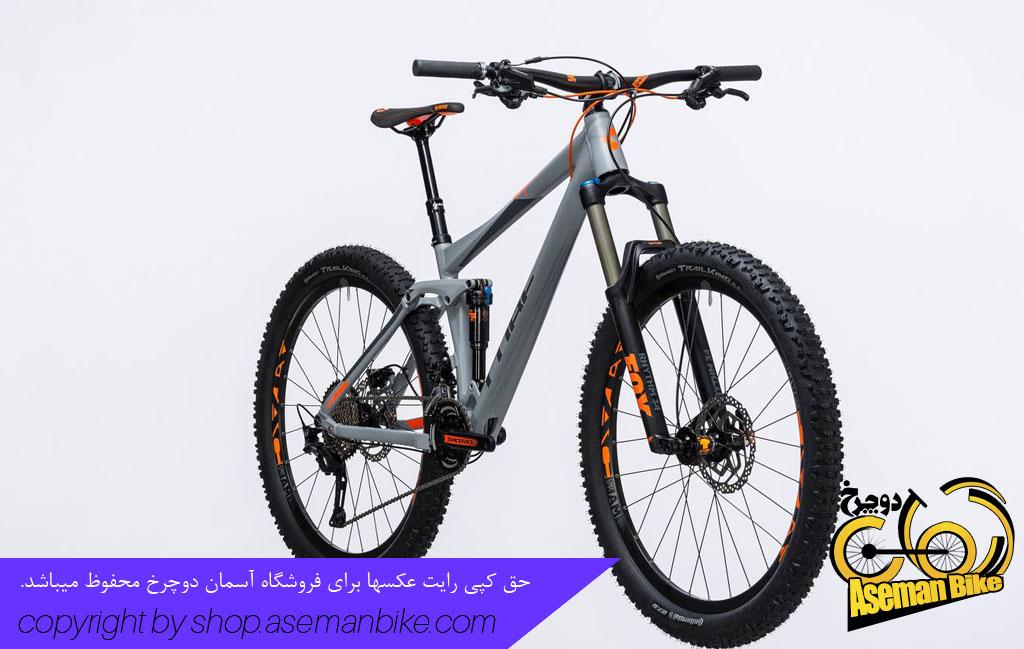 دوچرخه کوهستان کیوب مدل استریو 140 سایز 27.5 2017 خاکستری نارنجی Cube Stereo 140 HPA Pro 27.5 2017