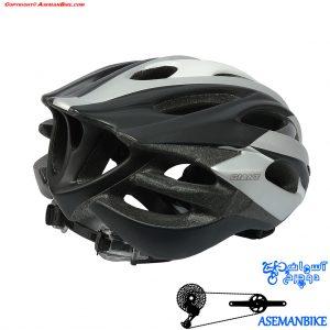 کلاه دوچرخه سواری کربن جاینت مدل آرس خاکستری Giant Helmet Ares Crabon Fiber Gray