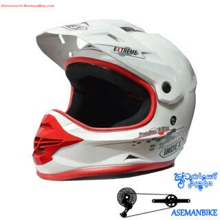 کلاه دوچرخه سواری دانهیل ایندکس ایکستریم سفید Index Helmet Extreme Premium Edition White