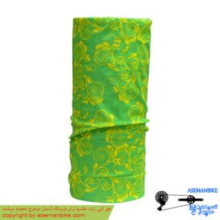 دستمال سر و گردن اسکارف سبز طرح دار Scarf Headwear Green