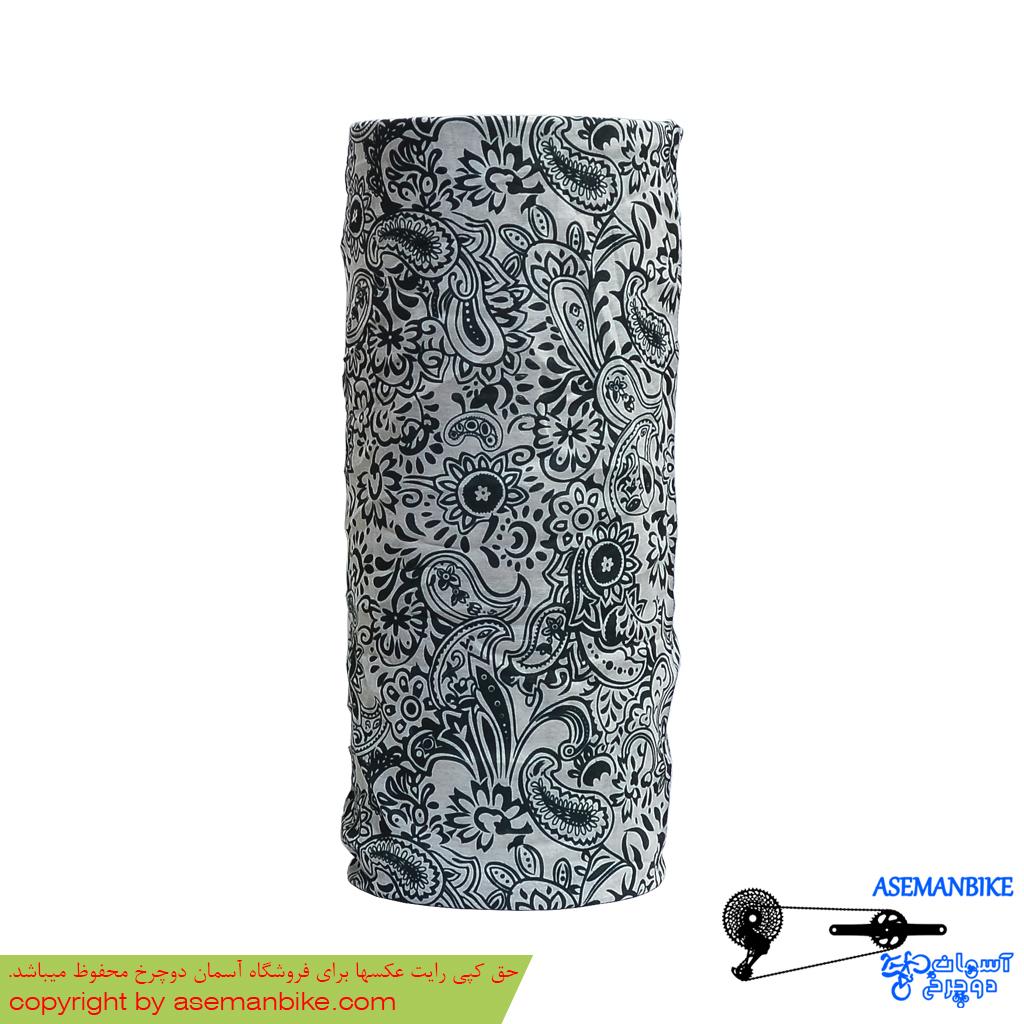 دستمال سر و گردن اسکارف سیاه سفید Scarf Headwear Black White