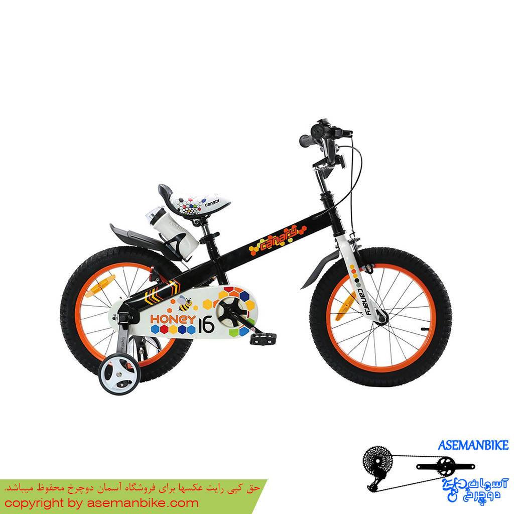 دوچرخه شهری قناری مدل هانی مشکی سایز ۱۲ Canary City Bicycle Honey 12