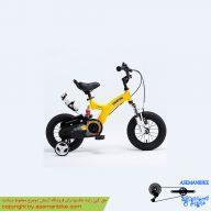 دوچرخه شهري قناري مدل فلایینگ بیر زرد سايز 12 Canary City Bicycle Flyingbear 12
