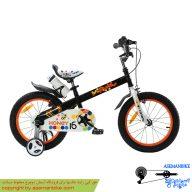 دوچرخه شهري قناري مدل هانی مشکی سفید سايز 16 Canary City Bicycle Honey 16