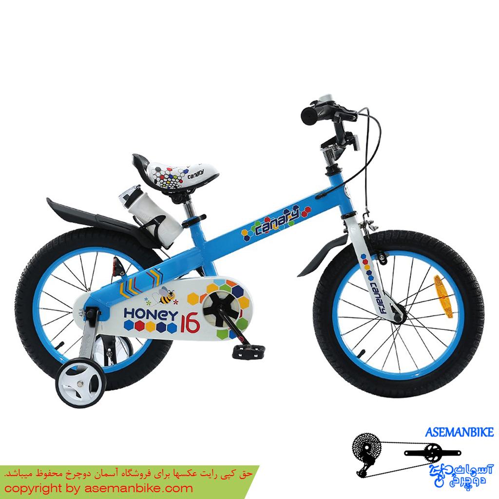 دوچرخه شهری قناری مدل هانی آبی سایز 16 Canary Bicycle Honey 16