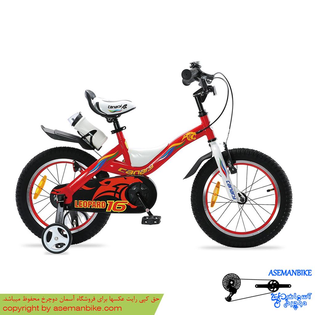 دوچرخه شهری قناری مدل لئوپارد قرمز سایز 16 Canary City Bicycle Leopard 16