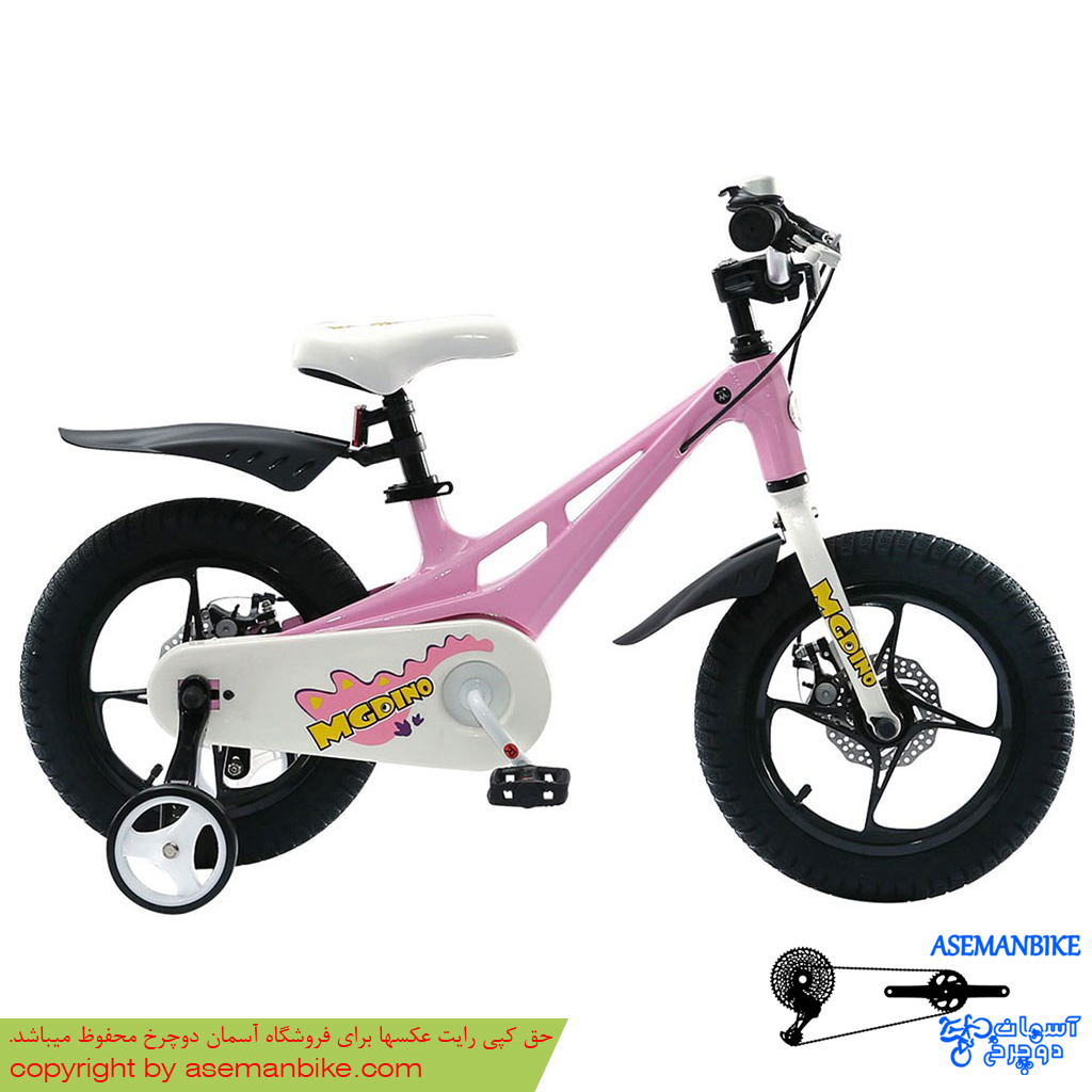 دوچرخه شهري قناري مدل ام جی دینو سايز 14 صورتی Canary City Bicycle MGDino 14 Pink