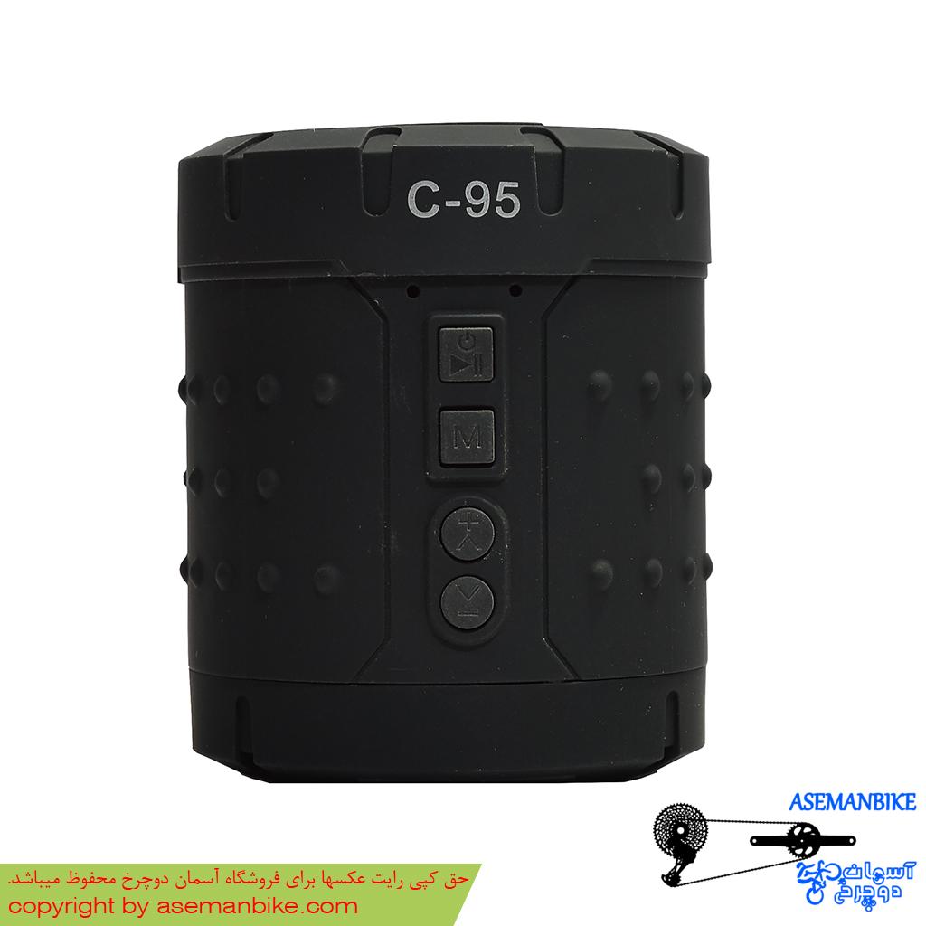 اسپیکر پخش کننده موسیقی بلوتوثی شارژی رم خور مدل سی 95 Mini Music Box Bluetooth TF Card And Rechargable