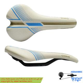 زین دوچرخه ولو سفید آبی Velo Saddle