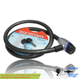 قفل دوچرخه کابلی اسپیرال لاک 18*1200 Zhongli Spiral Lock 1200x18