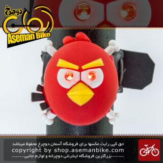 چراغ خطر عقب دوچرخه طرح آنگری بیرد Back Light Angry Bird Design