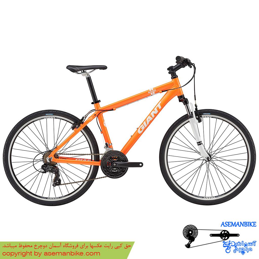دوچرخه هيبريدي جاينت مدل اسنپ 21 نارنجی سايز 26 Giant Snap 21 2017