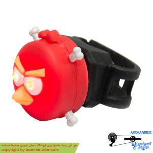 چراغ خطر عقب دوچرخه بچه گانه طرح آنگری بیرد Back Light Angry Bird Design