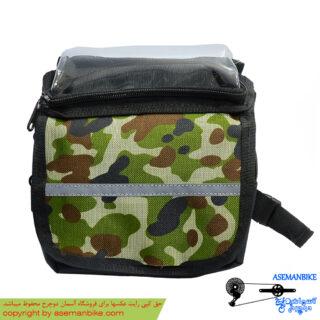 کیف موبایل روی تنه دوچرخه طرح ارتشی Army Mobile Bag For Bicycle