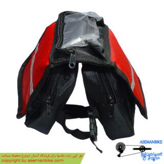 کیف موبایل روی تنه دوچرخه مشکی قرمز Fuji Mobile Bag Black Red For Bicycle