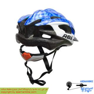 کلاه دوچرخه سواری آر بی مشکی آبی RB Helmet