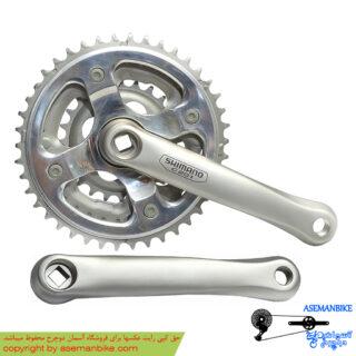 طبق قامه دوچرخه شیمانو سی 201 Shimano Crankset C201