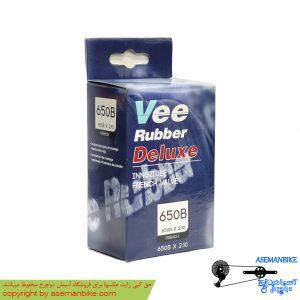 تیوپ دوچرخه وی رابر تایلندی والف فرانسوی سایز 27.5 Vee Rubber Tube French Valve 27.5x2.10