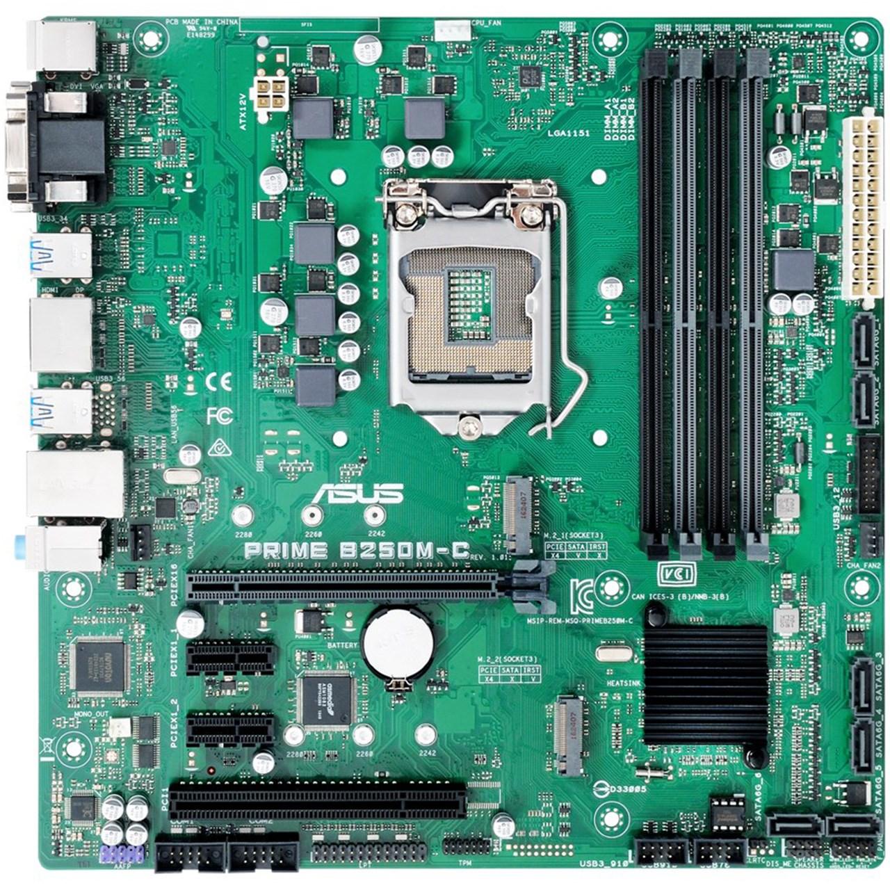 مادربرد ایسوس مدلASUS PRIME B250M-C Motherboard