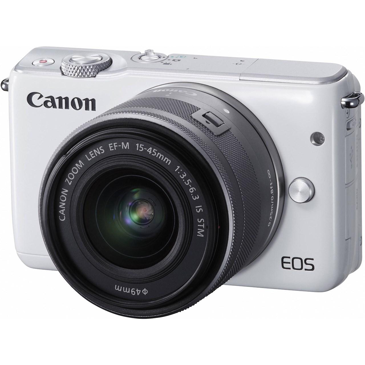 دوربين ديجيتال بدون آينه کانن مدل Canon EOS M10 Mirrorless Digital Camera With 15-45mm Lens
