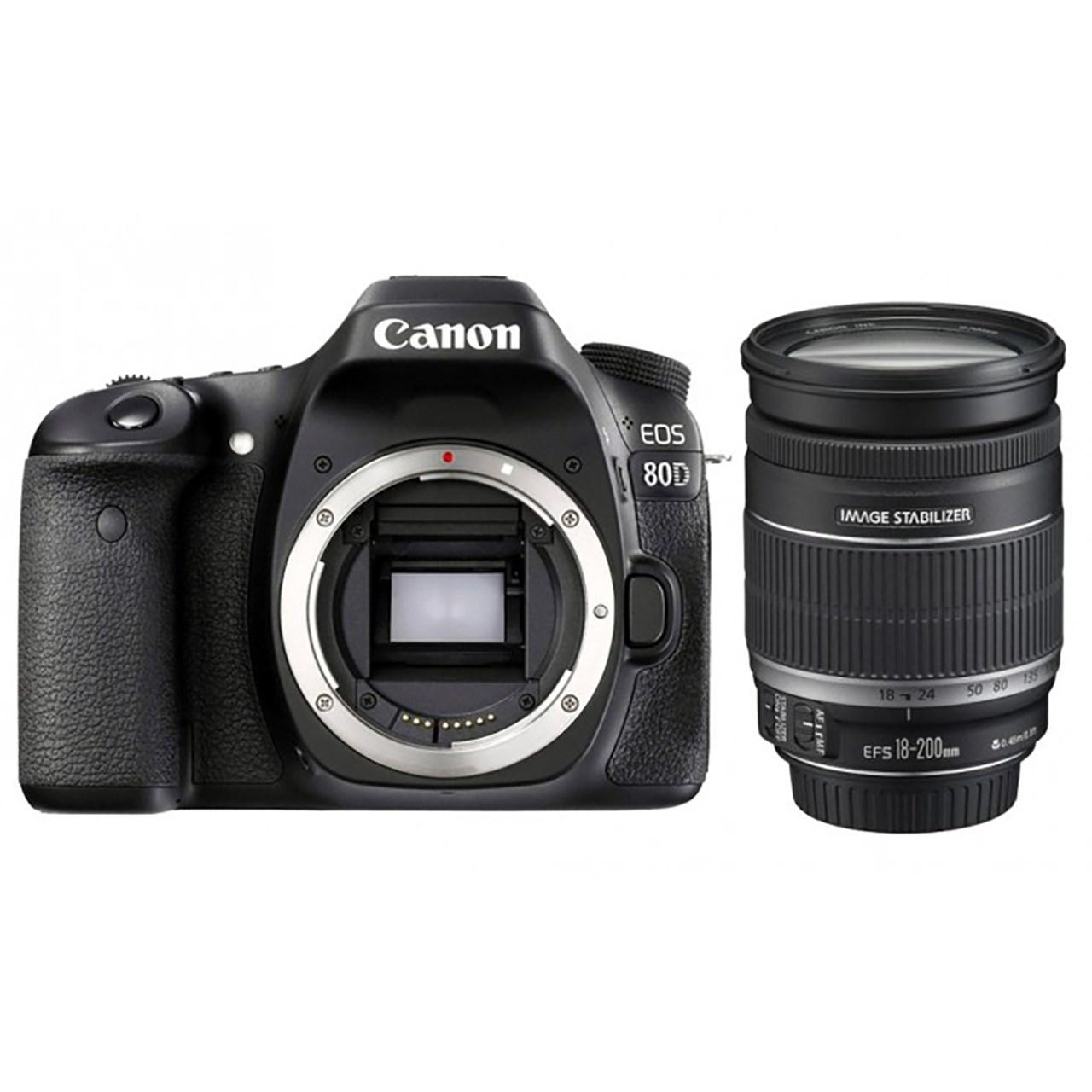 دوربین دیجیتال کانن مدل Canon Eos 80D Digital Camera With 18-200mm Lens