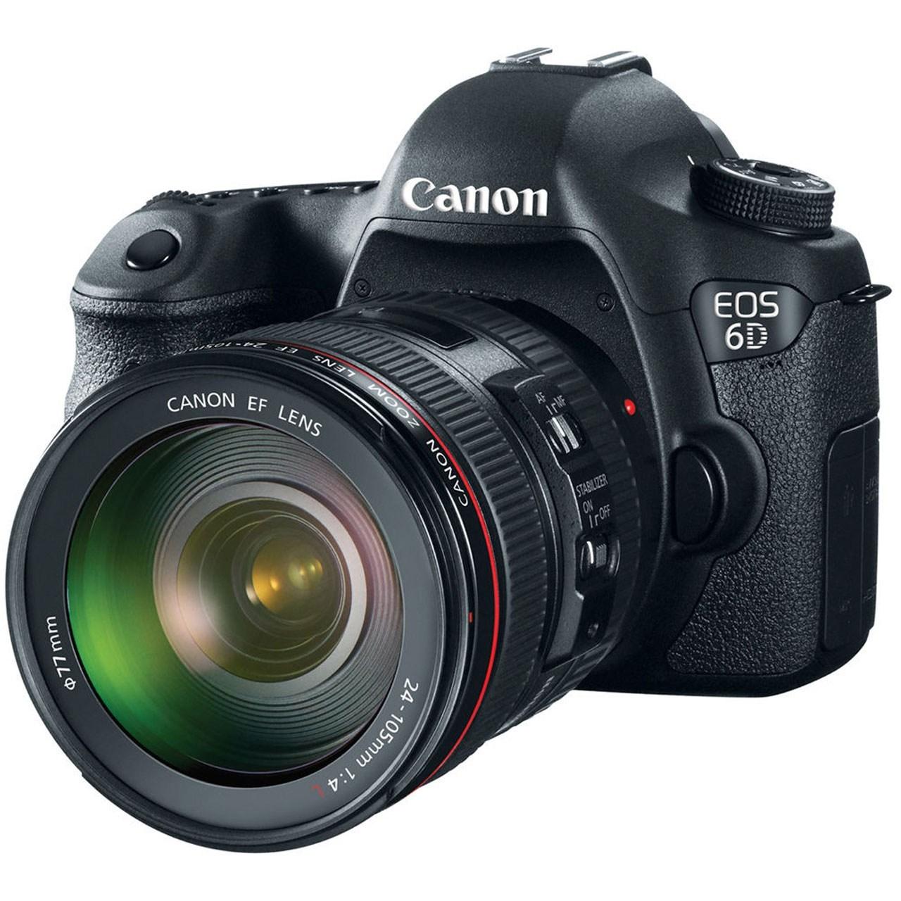 دوربين ديجيتال کانن مدل Canon EOS 6D Kit 24-105mm f/4 L IS USM Digital Camera