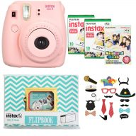 دوربين عکاسي چاپ سريع فوجي فیلم مدل Fujifilm Instax Mini 8 Digital Camera With Flipbook, 3 Films And Photo Stickers